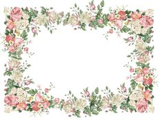 free vintage flower frame png:  freebies