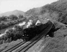 C&O Steam Locomotive #2743, Prestonburg, KY c.1944