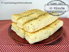 45 Minute Homemade Breadsticks | AllFreeCopycatRecipes.com