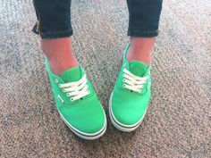 We're rocking Jade Green Vans in the office!