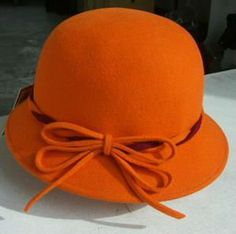 adorable orange festival cap hat