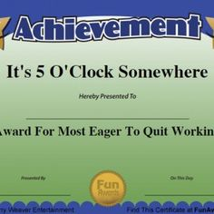 34 Amazing Fun Awards Images Funny Certificates Award