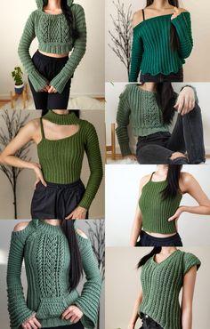 Crochet Jumper, Crochet Jacket, Crochet Crop Top, Diy Crochet, Crochet Crafts, Crochet Tops, Crochet Designs, Crochet Patterns, Pdf Patterns