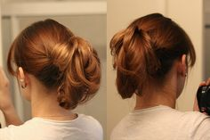 Simple Updo Hairstyle ... three variations ... how to...