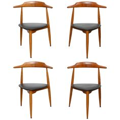 Genial Hans Wegner Heart Chairs, Ca.1950u0027s
