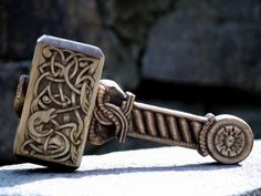New Woodwork Ritual Thor's Hammer, by Pagan Studio Yarinka, from the Ukraine.