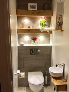 Bathroom Cabinets Behind toilet . Bathroom Cabinets Behind toilet . Small Toilet Decor, Small Toilet Room, Very Small Bathroom, Bathroom Design Small, Bathroom Designs, Small Bathroom Interior, Small Bathrooms, Dream Bathrooms, Glass Bathroom
