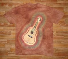 This is a printed version of my Guitar Design– (Diagonal ~I also offer an upright vertical version). The original goes for $100.00, because it takes about six hours to prepare for dye, but thanks to the water based jet print technique designed by The Mountain Corporation, of Keene New Hampshire, I am able to sell these prints for $25.00    Wholesale inquiries are welcome~