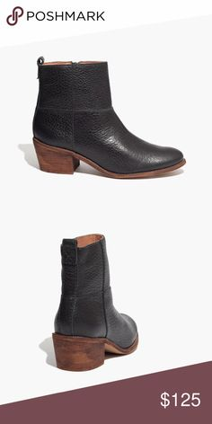 Madewell Perrie Boot In rich, grainy leather with a low stacked heel, this rustic-meets-refined boot is a genius addition to your closet Madewell Shoes Heeled Boots