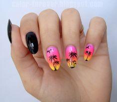 BornPrettyStore Nail Stickers   summer sunset nail art