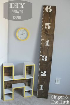 DIY growth chart for your little one. You can make this one!