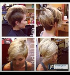 If I had more hair, this is exactly what I would do. Love it!