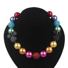 Hey, I found this really awesome Etsy listing at https://www.etsy.com/listing/213181152/chunky-necklacegum-ball-beaded
