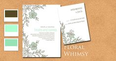 Woodsy Floral Wedding Invitation Suite with by CharmedPaperie, $4.25
