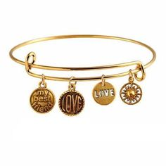 My Best Friend Vintage Expandable Bracelet - Gold