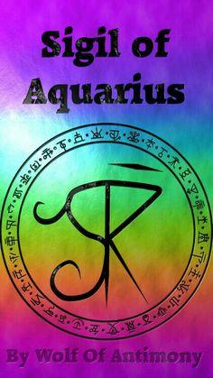 of Aquarius le Wolf of Antimony. Cliceáil chun comharthaí eile a fheiceáil . -Sigil of Aquarius le Wolf of Antimony. Cliceáil chun comharthaí eile a fheiceáil . Witch Symbols, Magic Symbols, Astrology Pisces, Astrology Numerology, Numerology Chart, Zodiac Art, Zodiac Symbols, Rune Tattoo, Sigil Magic