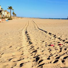 Jeep tracks and flip flops. Newport Beach. March 2012