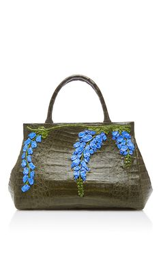 Floral Embellished Shoulder Bag by NANCY GONZALEZ for Preorder on Moda Operandi