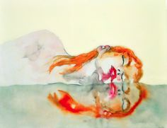Under by Lisa Krannichfeld. Resin, acrylic, ink and watercolor on paper and wood. | Exquisite art, 500 days a year. |