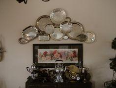 Interesting display of silver platters