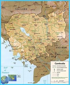 cool Map of Cambodia