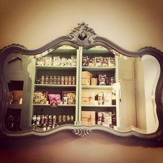 "Tabarè Shop, Ortigia, Syracuse  ""Magic Mirror on the wall, who is the fairest one of all""    #food #sicily #conceptstore #ortigia #Syracuse #mirror #grocery #design #sicilianfood"