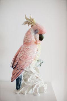 pink cockatoo / porcelain