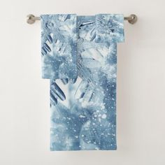 Snowflake Crystals Bathroom Towel Set - winter gifts style special unique gift ideas