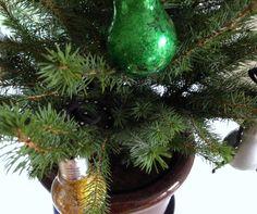 Light bulb decorations DIY. Very creative and Christmas-ey!