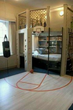 This room is for a boy but I would totally do this but softball style.!