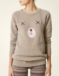 Bear face sweater