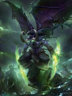 Illidan Here is one of my illustrations for Blizzards World of Warcraft Chronicle Illidan Stormrage and his army in the Netherstorm. More art updates and other images on my site,. Warcraft Heroes, Warcraft Funny, Art Warcraft, World Of Warcraft Game, World Of Warcraft Characters, Fantasy Characters, Warcraft Legion, Dark Fantasy Art, Fantasy Artwork