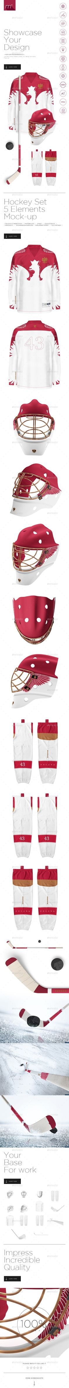 Hockey Set Mock-up #design Download: http://graphicriver.net/item/hockey-set-mockup/14275949?ref=ksioks