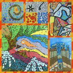7th grade art work based on Antoni Gaudi