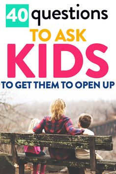 and baby design 40 Questions to Ask Kids to Get Them to Open Up Parenting advice to help moms and dads learn more about their kids. Ask them some 40 questions to get your kids to open up more and connect with them better! Gentle Parenting, Parenting Advice, Peaceful Parenting, All Family, Strong Family, Family Life, Sibling Relationships, Parenting Toddlers, First Time Moms