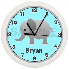 Elephant Nursery Clock