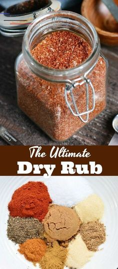 The Ultimate Dry Rub recipe This is a great Dry Rub for ribs for chicken brisket chicken wings and more Use this dry rub on any meat that you re grilling smoking or cooking in the oven meats spices dryrub spicemix grilling bakedmeats Rub For Pork Ribs, Pork Dry Rubs, Bbq Dry Rub, Ribs In Oven, Meat Rubs, Pork Rib Rub Recipe, Dry Rub For Brisket, Smoked Ribs Dry Rub, Dry Rub Ribs