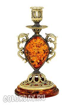 """подсвечник """"Барокко"""" Baltic Amber, Perfume Bottles, Accessories, Perfume Bottle"""