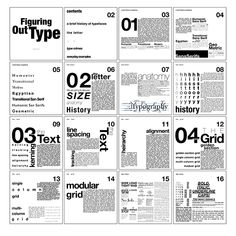 Figuring Out Type (Book on Typography) on Behance Page Layout Design, Graphisches Design, Magazine Layout Design, Graphic Design Layouts, Graphic Design Posters, Logo Design, Interior Design, Text Layout, Poster Layout