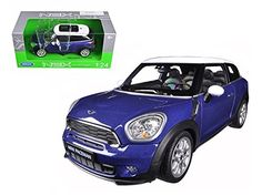 Mini Cooper S Paceman Blue 1/24 Model Car by Welly * Read more  at the image link. (This is an affiliate link and I receive a commission for the sales)