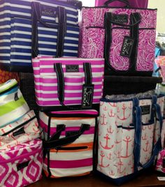 Soft sided cooler bags by Scout bring fashion and function together.  Colorful, fun designs keep your food and drinks cold while providing fashion and style to this piece of beach gear.