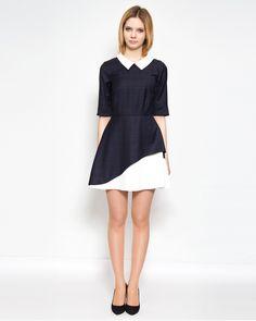 navy collar dress