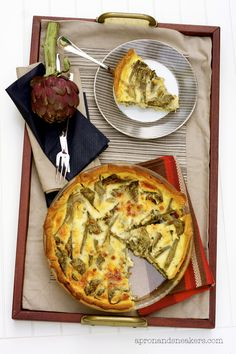 Torta Salata ai Carciofi (Artichoke Quiche).  A lot of work, but this looks so good.  Scamorza affumicata does exist kosher in the US, and is just like smoked mozzarella if you see that.
