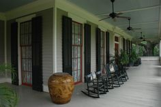 One of my favorite places to sit on a rainy day....Joe Jefferson House, New Iberia, Louisiana
