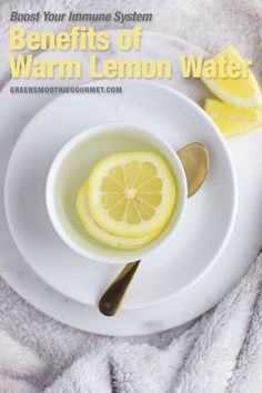 The benefits of lemon water is that it boosts immunity, brain cells, flushes toxins, assists weight loss, protects skin. Learn about both warm verses cold. Healthy Holiday Recipes, Easy Healthy Recipes, Healthy Drinks, Fall Recipes, Lemon Water Benefits, Warm Lemon Water, Lemon Recipes, Winter Food, Clean Eating Recipes