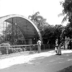 Animal cage at Crandon Park Zoo, now defunct