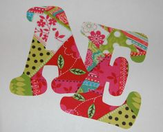 Personalized Monogram Iron On No Sew DIY Applique Patch You Choose Fabric. $3.50, via Etsy.