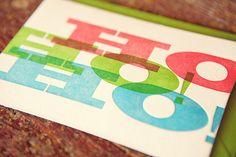 holiday letterpress card