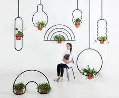 Hanging Pots by Katerina Kopytina  Specialized in design product and industrial design Moscow-based artist Katerina Kopytina designed The Kuiper Belt a series of hanging pots inspired by the life forms which havent yet been discovered.         #xemtvhay