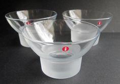 Set of 3 Marius vintage crystal dessert bowls by Iittala Finland Marius design Markku Salo 1985. Price is per 3. by SCALDESIGN on Etsy